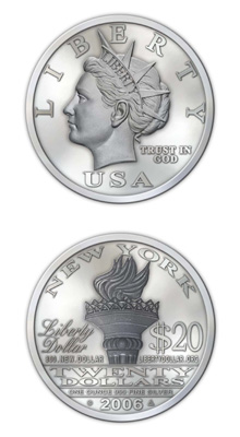 $20 Silver Liberty